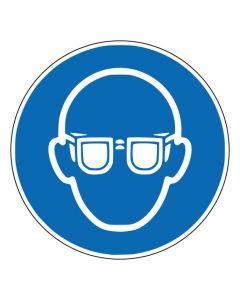 Gebotszeichen Augenschutz benutzen · ISO 7010 M004