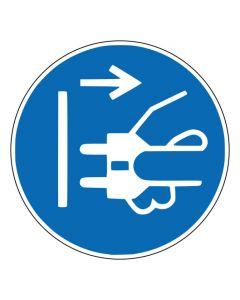 Gebotszeichen Netzstecker ziehen · ISO 7010 M006