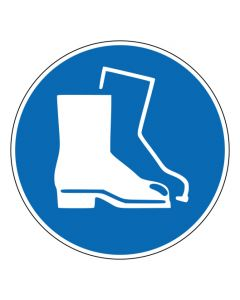 Gebotszeichen Fußschutz benutzen · ISO 7010 M008