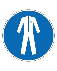 Gebotszeichen Schutzkleidung benutzen · ISO 7010 M010