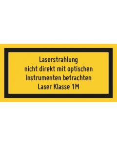 Hinweiszeichen · Aufkleber | Schild · Laserklasse 1M · Sichtbare Strahlung