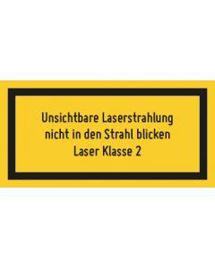 Hinweiszeichen · Aufkleber | Schild · Laserklasse 2 · Unsichtbare Strahlung