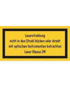 Hinweiszeichen · Aufkleber | Schild · Laserklasse 2 M · Sichtbare Strahlung