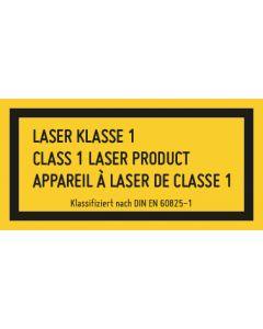 Hinweiszeichen · Aufkleber | Schild | Magnetschild · Laserklasse Wunschtext