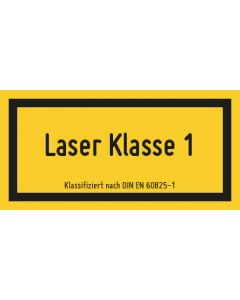 Hinweiszeichen · Aufkleber | Schild | Magnetschild · Laserklasse 1M · Sichtbare Strahlung