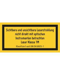 Hinweiszeichen · Aufkleber   Schild   Magnetschild · Laserklasse 2 · Laserstrahlung · Nicht in den Strahl blicken