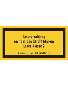 Hinweiszeichen · Aufkleber   Schild   Magnetschild · Laserklasse 2 · Unsichtbare Strahlung