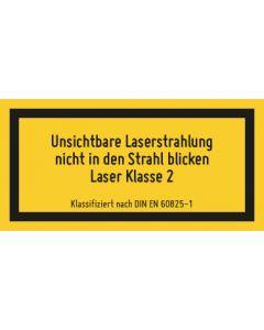 Hinweiszeichen · Aufkleber | Schild | Magnetschild · Laserklasse 2 · Sichtbare und unsichtbare Strahlung