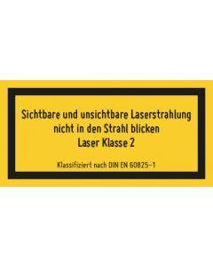 Hinweiszeichen · Aufkleber | Schild | Magnetschild · Laserklasse 2 M · Sichtbare Strahlung