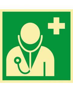 Rettungszeichen · Aufkleber | Schild | Magnetschild · Arzt, ärztliche Hilfe · lang nachleuchtend