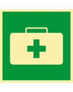 Rettungszeichen · Aufkleber | Schild | Magnetschild · Notfallkoffer, Sanitätskoffer · lang nachleuchtend
