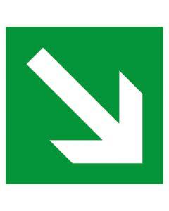 Rettungszeichen · Aufkleber | Schild | Magnetschild · Fluchtweg, Pfeil schräg rechts