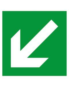 Rettungszeichen · Aufkleber | Schild | Magnetschild · Fluchtweg, Pfeil schräg links