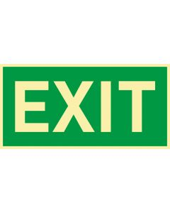 Rettungszeichen · Aufkleber | Schild | Magnetschild · EXIT · lang nachleuchtend