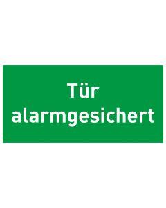 Rettungszeichen · Aufkleber | Schild | Magnetschild · Tür alarmgesichert