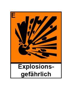 Gefahrstoffzeichen · Aufkleber | Schild | Magnetschild · explosionsgefährlich Hazard_E (Piktogramm+Text)