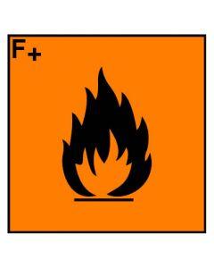 Gefahrstoffzeichen · Aufkleber | Schild | Magnetschild · hochentzündlich Hazard_F