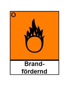 Gefahrstoffzeichen · Aufkleber | Schild | Magnetschild · brandfördernd Hazard_O (Piktogramm+Text)