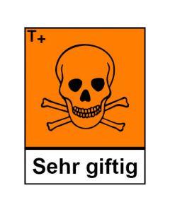 Gefahrstoffzeichen · Aufkleber | Schild | Magnetschild · sehr giftig Hazard_T (Piktogramm+Text)