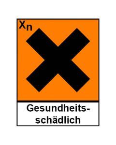 Gefahrstoffzeichen · Aufkleber | Schild | Magnetschild · gesundheitsschädlich Hazard_X (Piktogramm+Text)