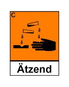 Gefahrstoffzeichen · Aufkleber | Schild | Magnetschild · ätzend Hazard_C (Piktogramm+Text)