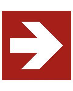 Brandschutzzeichen · Aufkleber | Schild | Magnetschild · Pfeil Richtungsangabe gerade