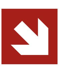 Brandschutzzeichen · Aufkleber | Schild | Magnetschild · Pfeil Richtungsangabe schräg