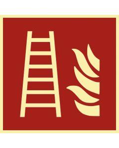 Brandschutzzeichen · Aufkleber | Schild | Magnetschild · Feuerleiter · lang nachleuchtend