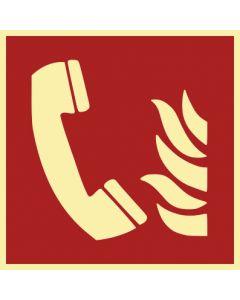 Brandschutzzeichen · Aufkleber | Schild | Magnetschild · Brandmeldetelefon · lang nachleuchtend
