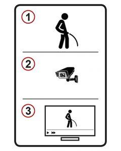 Schild | Aufkleber | Magnetschild · Pinkeln Video TV