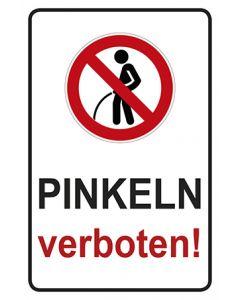 Schild | Aufkleber | Magnetschild · Pinkeln verboten