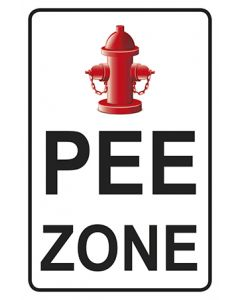 Schild | Aufkleber | Magnetschild PEE Zone