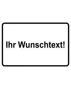 Baustellenzeichen · Aufkleber | Schild | Magnetschild · Wunschtext | schwarz · weiß