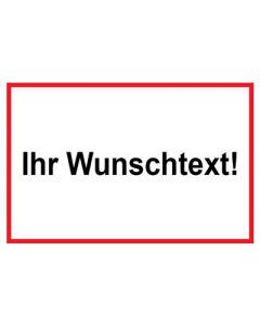 Baustellenzeichen · Aufkleber | Schild | Magnetschild · Wunschtext | rot · weiß