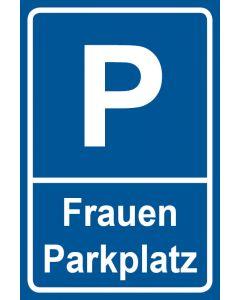 Parkschild Frauenparkplatz · Aufkleber | Schild | Magnetschild