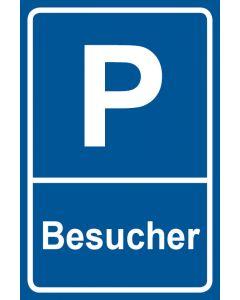 Parkschild Besucher · Aufkleber | Schild | Magnetschild