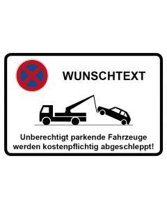 Parkverbotsschild WUNSCHTEXT · Aufkleber | Schild | Magnetschild