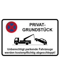 Parkverbotsschild Privatgrundstück · Aufkleber | Schild | Magnetschild