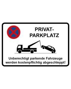 Parkverbotsschild Privatparkplatz · Aufkleber | Schild | Magnetschild