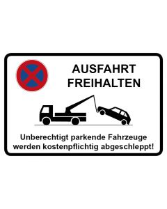 Parkverbotsschild Ausfahrt freihalten · Aufkleber | Schild | Magnetschild