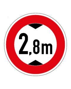 Verkehrszeichen Durchfahrtshöhe max. 2,8 m · Aufkleber | Schild | Magnetschild