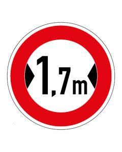 Verkehrszeichen Durchfahrtsbreite max. 1,7 m · Aufkleber | Schild | Magnetschild