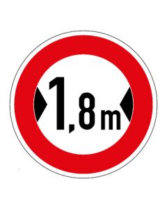 Verkehrszeichen Durchfahrtsbreite max. 1,8 m · Aufkleber | Schild | Magnetschild