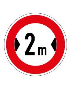 Verkehrszeichen Durchfahrtsbreite max. 2 m · Aufkleber | Schild | Magnetschild