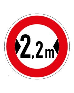 Verkehrszeichen Durchfahrtsbreite max. 2,2 m · Aufkleber | Schild | Magnetschild