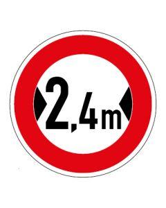Verkehrszeichen Durchfahrtsbreite max. 2,4 m · Aufkleber | Schild | Magnetschild