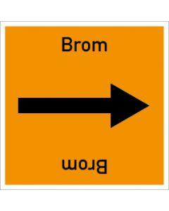 Rohrleitungskennzeichnung viereckig Brom | Aufkleber · Magnetschild · Aluminiumschild
