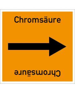 Rohrleitungskennzeichnung viereckig Chromsäure | Aufkleber · Magnetschild · Aluminiumschild