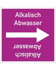 Rohrleitungskennzeichnung viereckig Alkalisch Abwasser | Aufkleber · Magnetschild · Aluminiumschild