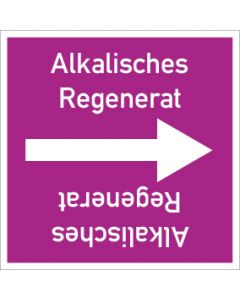 Rohrleitungskennzeichnung viereckig Alkalisches Regenerat | Aufkleber · Magnetschild · Aluminiumschild